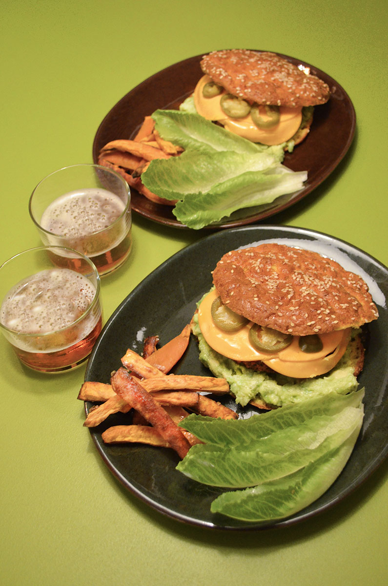 Oh mungood vegan avoado chilicheese burger
